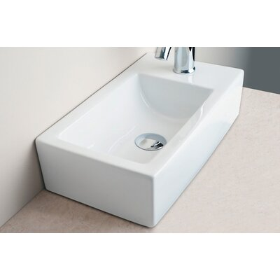 IMG Small Rectangular Bar Single Hole Bathroom Sink