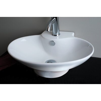 IMG Oval Single Hole Vessel Bathroom Sink