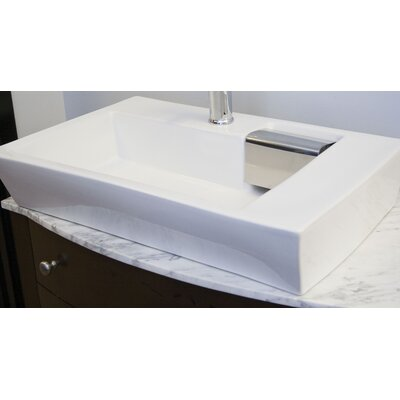 Ceramic Wall Mount / Vessel Bathroom Sink - IMG-240