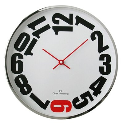 Oliver Hemming Wall Clock with Red 6