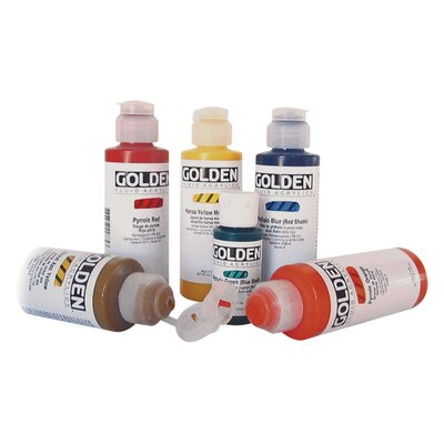 Golden Artist Colors 4 Oz Heavy Body Interference Color Acrylic Paint