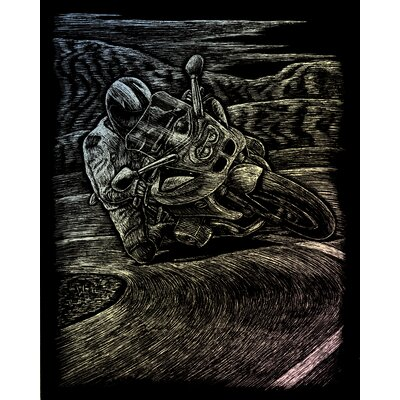 Royal & Langnickel Holographic Motorcycle Race Art Engraving