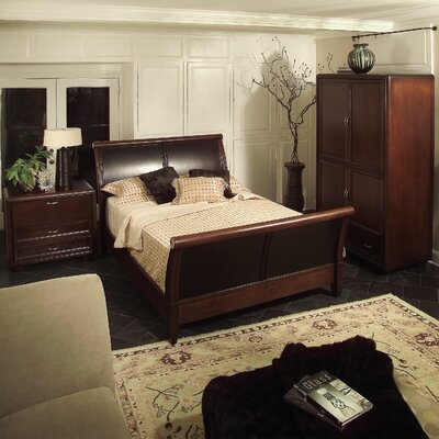 Leda Furniture Fifth Avenue Queen Sleigh Bedroom Collection
