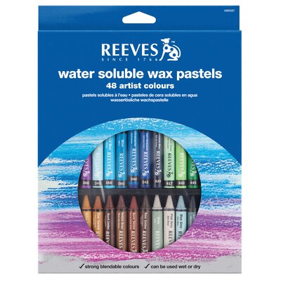 Reeves Water Soluble Wax Pastels (Set of 48)