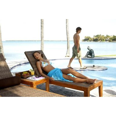 Panama Jack Outdoor Leeward Islands Chaise Lounge and End Table Set