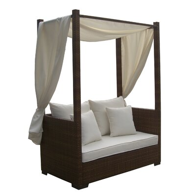 Panama Jack Outdoor St Barths Daybed with Cushion and Curtains