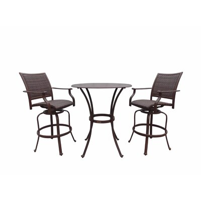 Panama Jack Outdoor Island Cove 3 Piece Pub Dining Set