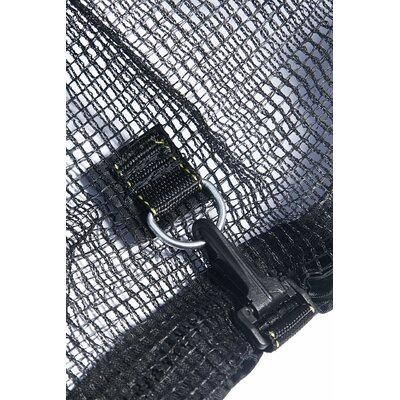Sports Oh 13' Enclosure Trampoline Net Using 6 Straight Curved Poles