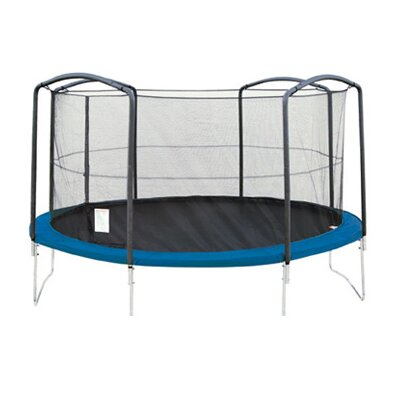 Sports Oh 13' Enclosure Trampoline Net Using 4 Arches