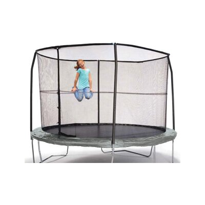 Sports Oh 12' Enclosure Trampoline Net Using 4 Straight-Curved Poles