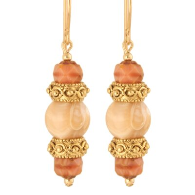 Delicia Mother of Pearl 14 Kt Goldfilled Earrings