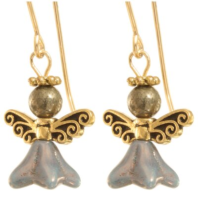 Ardent Designs Remliel Angel 14 Kt Goldfilled Earrings