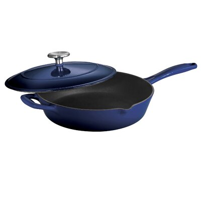 Tramontina Gourmet Enameled Cast Iron Covered Skillet Gradated