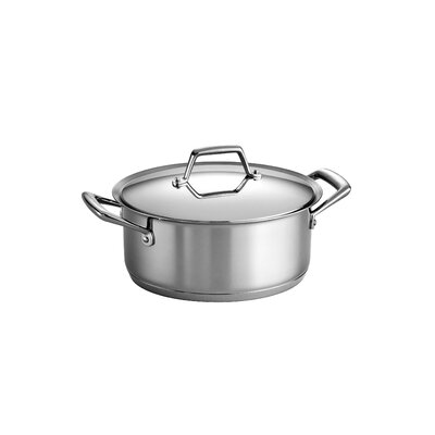 Tramontina Gourmet Prima 5 Qt Covered Dutch Oven with Tri-Ply Base