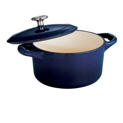 Tramontina Gourmet Enameled Cast Iron 10.5 oz Covered Mini Cocotte Gradated