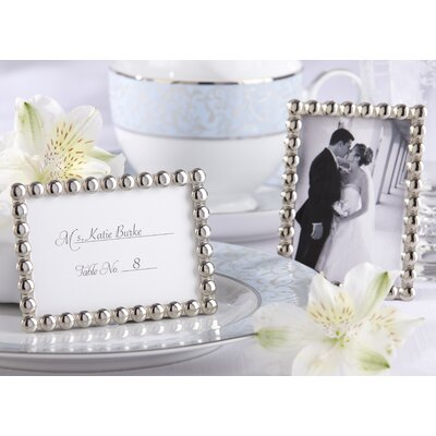 ''Silver Pearls'' Mini Photo Frame