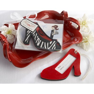 ''First Class Fashionista'' High Heel Luggage Tag