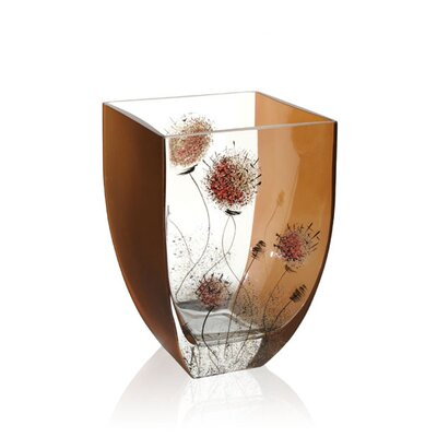 "Womar Glass 9"" Danderloin Series Vase"