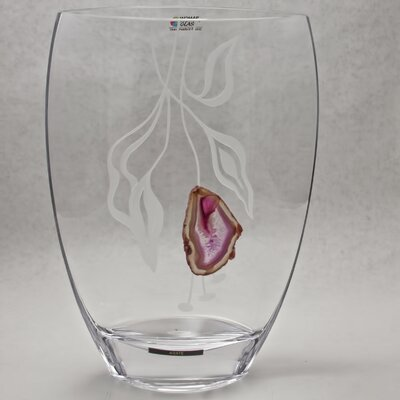 Womar Glass Precious Stone Agate Series  IV Vase