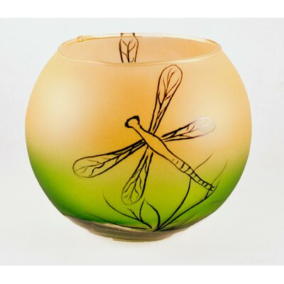 Womar Glass Dragon Fly Bowl