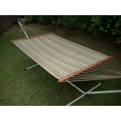 Large Olefin Fabric Hammock with Stand