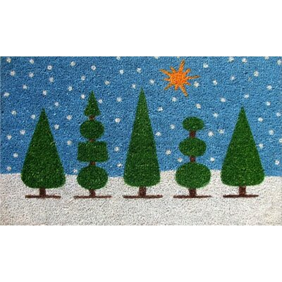 Home & More Topiary Christmas Doormat
