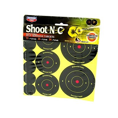 "Birchwood Casey Shoot-N-C 1"", 2"" and 3"" Bullseye Round Assorted Target (12 Per Pack)"