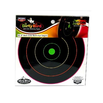 "Birchwood Casey Dirty Bird 8"" Multicolor Target (20 Per Pack)"
