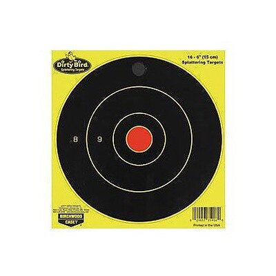 "Birchwood Casey Dirty Bird 12"" Chartreuse Bull's Eye Target (16 Per Pack)"
