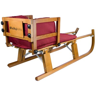 Lucky Bums Heirloom Wooden Foldable Pull Sled with Pad