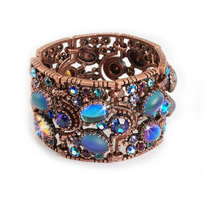 Sweet Romance Jelly Bean Peacock Blues Bracelet