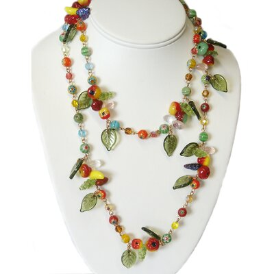 1940s Glass Fruit Necklace