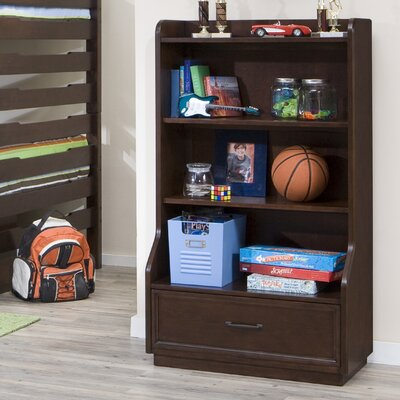 Legacy Classic Furniture Solutions Bookcase in Distressed Brown Cherry