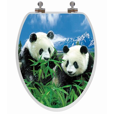 3D Series Panda Elongated Toilet Seat