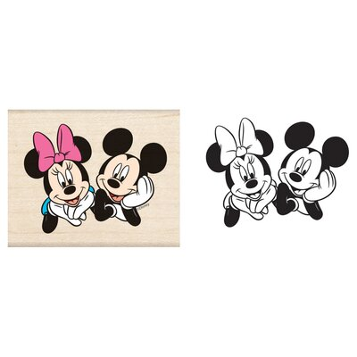 EK Success Disney Mickey & Minnie Wooden Stamp