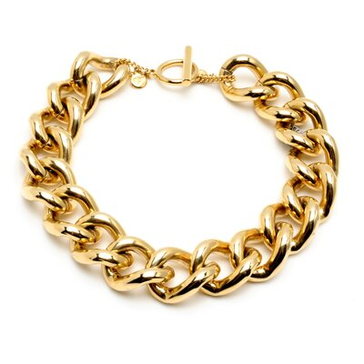 Ben Amun Classic Gold 24K Gold Plated Chain Link Necklace