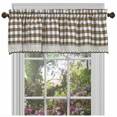 <strong>Achim Importing Co</strong> Buffalo Check Cotton Blend Curtain Valance