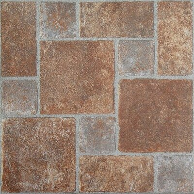 "Achim Importing Co Nexus 12"" x 12"" Vinyl Tile in Brick Pavers"