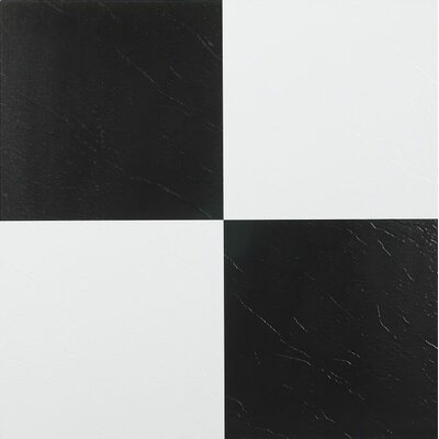 "Achim Importing Co Nexus 12"" x 12"" Vinyl Tile in Black and White"