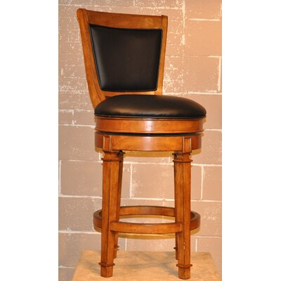 "ECI Furniture Monticello 30"" Swivel Bar Stool in Burnished Oak"
