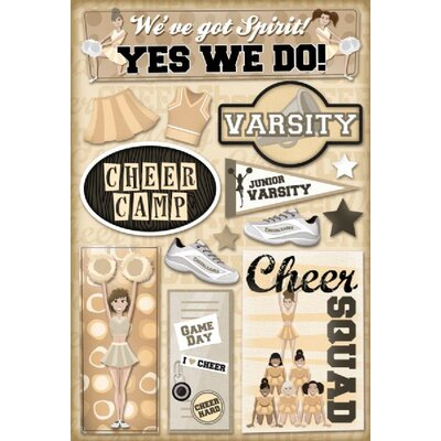 Karen Foster Design Cardstock Stickers Cheer Camp