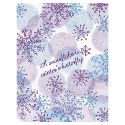 a snowflake is winters butterfly The butterfly challenge this fortnight is 'butterflies + q is for quotes and/or quick silver' i thought that this quote was perfect for the challenge, particularly at this time of year.