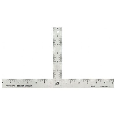Fairgate Aluminum Matte Marking T-Square Ruler