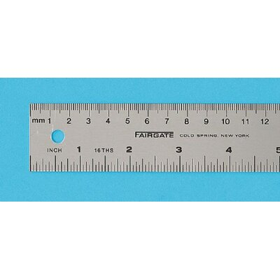 Fairgate Aluminum English Metric Ruler