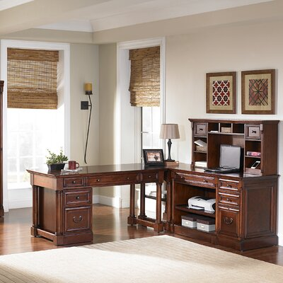 kathy ireland Home by Martin Furniture Mount View Flex L-Shape Desk Office Suite