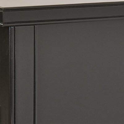 kathy ireland Home by Martin Furniture Tribeca Loft Black Double Pedestal Executive Desk