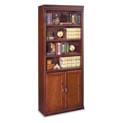 "kathy ireland Home by Martin Furniture Huntington Club 72"" H Bookcase with Lower Doors"