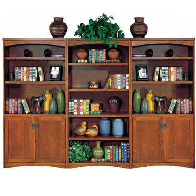 "kathy ireland Home by Martin Furniture California Bungalow 70"" H Bookcase with Lower Doors"