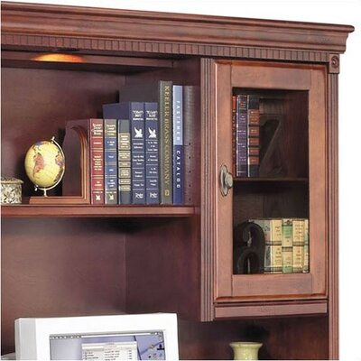 "kathy ireland Home by Martin Furniture Huntington Club 69"" W Storage Credenza with Hutch"