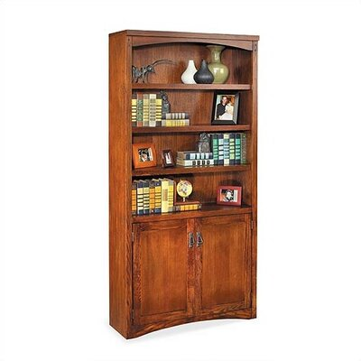 "kathy ireland Home by Martin Furniture Mission Pasadena 72"" H Bookcase With Lower Doors"